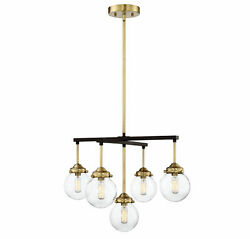 Trade Winds Linda 5-light 16 Chandelier In Oil Rubbed Bronze With Brass Accents