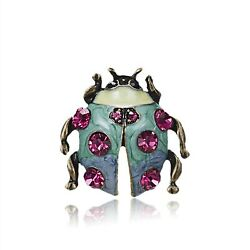 Ailuor Fashion Natural Insect Ladybug Animal Enamel Brooches Bee Bumble Bee S...