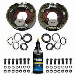 10000 Lb Trailer Axle Electric Brake Complete Replacement Kit - 10k Capacity -