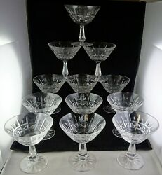 12 Waterford Made In Ireland Kylemore Champagne Tall Sherbet Glasses - Super