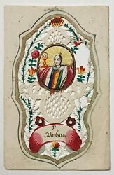 Devotional Cut Paper, Or Pin-pricked Picture. St. Barbara. Catholic.