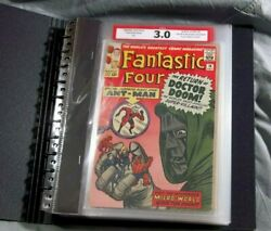 Fantastic Four 16 Cpa 4.08 Avg Grade Complete Comic Book Graded In Single Pages