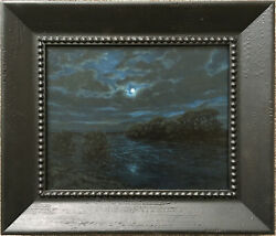 Early California Moonlight On The Sacramento River Landscape Painting