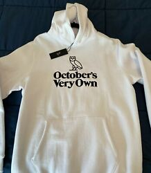 Ovo Familia Owl Embroidered Hoodie - White Mens Size Large. New W/ Tags