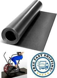 Black Home Fitness Equipment Mat And Floor Protector Treadmills Exercise Bikes