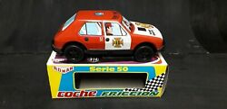 1980 - Shop Old Stock - Friction Powered Fiat Fire Chief Dept Tin Toy Car
