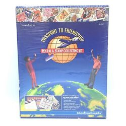 1994 Educational Insights Passport To Friendship Pen Pal And Stamp Collecting Kit