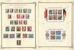 Germany Ddr Stamp Collection On 4 Scott Specialty Pages, 1953, Jfz