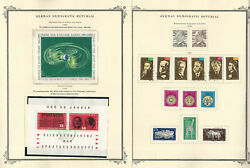 Germany Ddr Stamp Collection On 24 Scott Specialty Pages, 1964-1968, Jfz