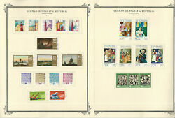 Germany Ddr Stamp Collection On 24 Scott Specialty Pages, 1974-1977, Jfz