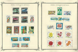 Germany Ddr Stamp Collection On 24 Scott Specialty Pages, 1979-1982, Jfz
