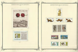 Germany Ddr Stamp Collection On 24 Scott Specialty Pages, 1982-1985, Jfz