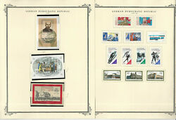 Germany Ddr Stamp Collection On 28 Scott Specialty Pages, 1987-1990, Jfz