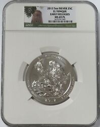 2012 Silver 5 Oz El Yunque Pr National Park Atb Coin Ngc Ms 69 Pl Early Releases