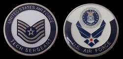 Us Air Force Technical Tech Sergeant E6 Rank Challenge Coin Military Coins