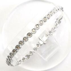 Jewelry 18k White Gold Bracelet Browndiamond 1.00 About7.3g Free Shipping Used