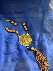 Catholic Auto Rosary Holy Blessed St. Benedict🎚 Rosary For Rear View Mirror 🎚