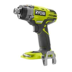 Ryobi One+ Cordless Impact Driver 1/4 Hex 18 Volt 3 Speed 3200 Rpm Tool Only