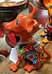 TALAVERA MEXICAN POTTERY ANIMALS Mini Dogs w Wings amp; Tongues Out 1