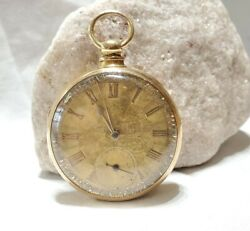 Gorgeous Vtg W.m. Cooper 14k Etched Yellow Gold Railroad Grade Pocket Watch
