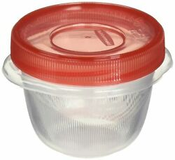 Rubbermaid Takealongs Twist And Seal Food Storage Containers 1.2 Set Of 4 2...