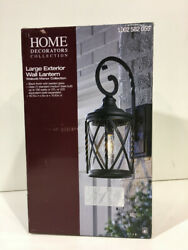 Home Decorators Collection Walcott Large 1 Light Black Outdoor Wall Lantern New