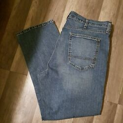 Arizona Jeans Mens Size 42x29 Relaxed Straight Flex Big Men Med Washed