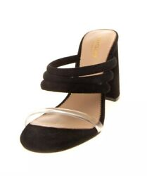 Marciano Los Angeles Leather Mule Heels Strappy Slide Size Us 7.5 Uk 5 Rrp €175