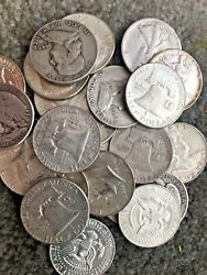The Franklin Deal All 90 Lot Old Us Junk Silver Coin 3 Lb 48 Oz. 1964 One