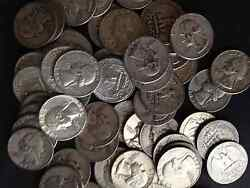48 Troy Ounces Us 90 Silver Quarters Coins Us Minted No Junk Pre65 Lot One