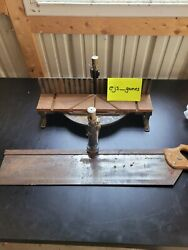 Vintage Stanley Mitre Box No 2358a Heavy Duty Adjustable Miter Box And Saw