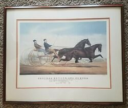 Currier And Ives, General Butler And Dexter, Hand Colored Lithograph J Cameron