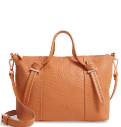 295 Ted Baker Olmia Small Knotted Handle Leather Shoulder Bag Satchel Tan Nwt