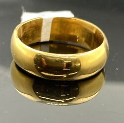 22k Ring Solid Gold Ring Ladies Jewelry Elegant Band R2491z