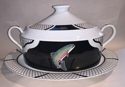 Lynn Chase American Waters Soup Tureen With Lid And Underplate Free Shipping