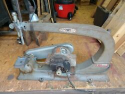 Vintage Delta Rockwell Milwaukee Scroll Saw Av 6025 With Light, Missing Parts