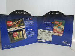 Coca Cola Around The World Premier Edition Phone Cards Numbered Limited Edition