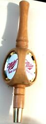Tap Handle Miller High Life Beer Wooden 3-sided 12 High