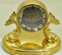 Antique French 19th Century Gold Plated Silver Verge Fusee Desk Clock C1800and039s
