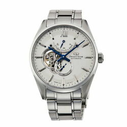Orient Star Slim Skeleton Rk-hj0001s Menand039s Watch Automatic White New