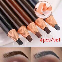 4Pcs Waterproof Microblading Eyebrow Peel off Pencil Eye Brow Makeup Cosmetic C $3.69