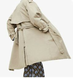 Nwt Zara Double-breasted Water Repellent Buttoned Trench Coat 4369/040