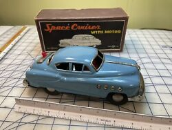 Vintage Space Cruiser 1950andrsquos Japanese Battery Operated Tin Toy Car Original Box