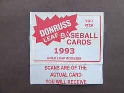 1993 Leaf Bb  Gold Leaf Rookies  U-pick Players From Scans Free Shipping