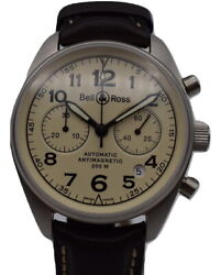 Bell And Ross Vintage Chronograph Watch Br 126 - Mint Bandp