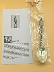 Gorham Sterling Silver Collectible Apostle Spoon Philip New With Card 6.5