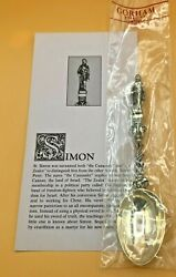 Gorham Sterling Silver Collectible Apostle Spoon Simon New With Card 6.5