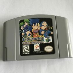 1pcs Game Card N64 Goemons Great Adventure For Nintendo 64 Us Edition