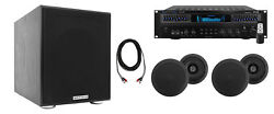 Technical Pro Home Theater Receiver+4 5.25 Black Ceiling Speakers+8 Subwoofer