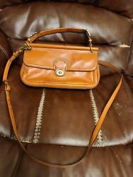 Coach Cognac Whiskey Brown Leather City Willis 70th Anniversary Bag F1220 *RARE* $70.00